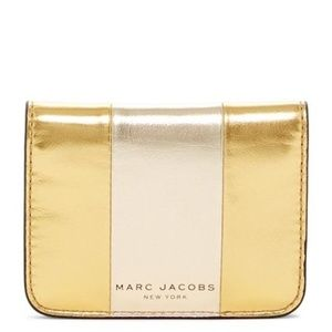Marc Jacobs Metallic Leather Card Case Wallet
